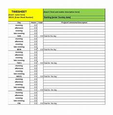 Time Card Sheet 41 Free Timesheet Time Card Templates Free Template