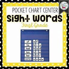 Sight Words Pocket Chart First Grade List Sight Word Pocket Chart Center By Teacher