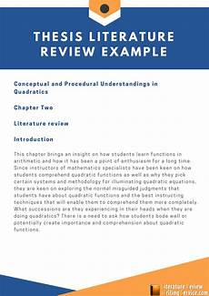 What Is Literture Review Sample Of Research Literature Review