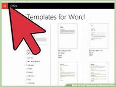 How To Use Word Templates 4 Ways To Add Templates In Microsoft Word Wikihow