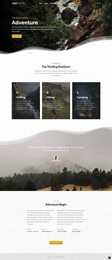 Adventure Web Design Outdoor Adventure Business Booking Modern Wordpress Theme