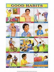 Good Habits Chart For School Indian Educational Chart Good Habits Art At Allposters Com