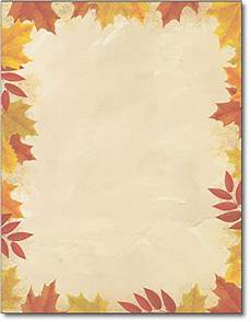 Autumn Stationery Autumn Leaves Border Stationery 80 Sheets Office