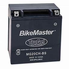 Bikemaster Battery Chart Bikemaster Trugel Battery Mg20ch Bs Review Battery Ebay