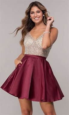 sequin and bead embellished homecoming dress promgirl