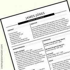 Cv Sample For Graphic Designer Graphic Design Cv Example Cv Template With Slick Headers