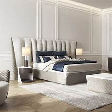exclusive modern italian upholstered leather bed