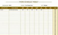 Free Weekly Work Schedule Template Excel Free Work Schedule Templates For Word And Excel