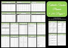 Teaching Planning Template Editable Chevron Printable Teacher Planner All About