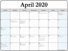 2020 Printable Monthly Calendar With Holidays April 2020 Calendar With Holidays