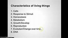 A List Of Characteristics Kozian Biology Unit 1 Video 4 Characteristics Of Life