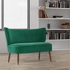 luxury mid century modern green velvet upholstered armless
