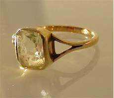Light Green Stone Rings Gold Ring With Light Green Stone Catawiki