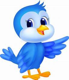 Cute Blue Images Cute Blue Bird Cartoon Stock Vector Illustration Of Happy