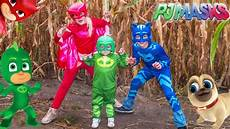 pj masks clothes puppies pj masks lost in a corn maze gekko and owlette look for