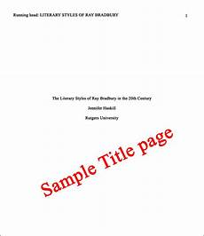 Apa Sample Paper Title Page Format A New Paper In Apa Style 6th Edition