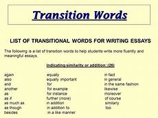 Words To Start A Paragraph In An Essay What Are Some Good Transition Words To Start An Essay Quora