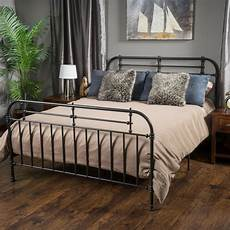 bedroom furniture iron metal king size bed in charcoal ebay