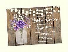 amazon com rustic bridal shower invitations purple