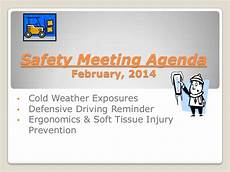 Office Meeting Topics February 2014 Monthly Safety Meeting Topics Invincia Insurance