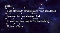 Stand In The Light Lyrics Hillsong The Stand Lyrics And Chords Key Of A Youtube