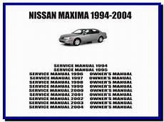 Nissan Maxima 1994 2004 Service Manual Owners Manual