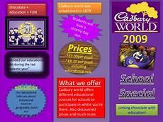 Examples Of Leaflets Leaflet Template Cadbury World