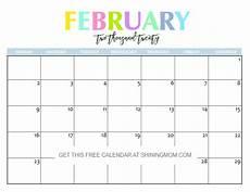 Free Calendar Template February 2020 Free Printable 2020 Calendar So Beautiful Amp Colorful