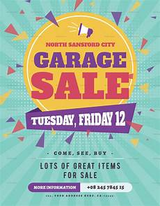 Garage Sale Flyers Examples Large Garage Sale Flyer Design Template In Psd Word