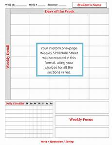 Schedule Sheets Weekly Schedule Sheet Examples A Plan In Place