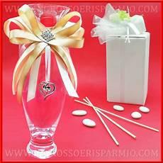 cuore e vasi vasi di vetro decorati strass e cuore bomboniere