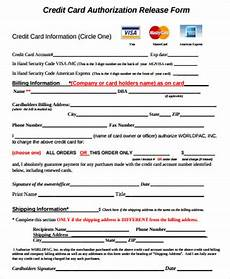 Credit Card Charge Authorization Free 6 Sample Credit Release Forms In Ms Word Pdf