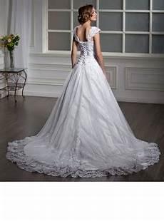 a line princess square neckline court tulle wedding