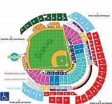 Marlins Park Stadium Seating Chart Half Way To One Thousand Reds Fan Ballhawk