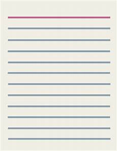 Blank Line Paper Lined Paper Stationery Design Free Clip Art