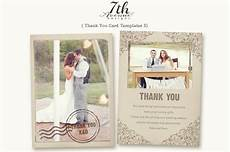 thank you card photoshop template free thank you card 3 card templates creative market