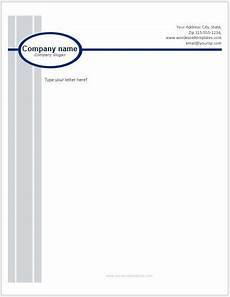 Microsoft Word Letterhead Templates Free Business Letterhead Templates For Ms Word Word Amp Excel