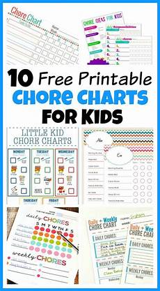 Little Kid Chore Chart 10 Free Printable Chore Charts For Kids Free Printable