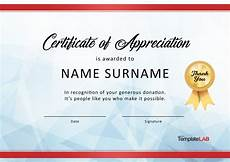 Charity Gift Certificates 30 Free Certificate Of Appreciation Templates And Letters