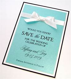 Wedding Save The Date Invitations Tiffany Save The Date Sample