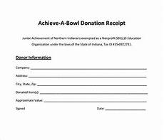 As Is Receipt Template by Free 9 Donation Receipt Templates In Free Sles
