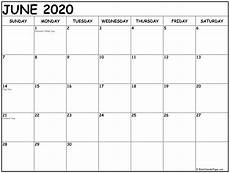 2020 Us Calendar Printable June 2020 Calendar 51 Calendar Templates Of 2020 Calendars