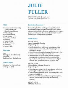Cv Sample For Graphic Designer How To Write A Graphic Designer Cv Example Amp Templates Guide