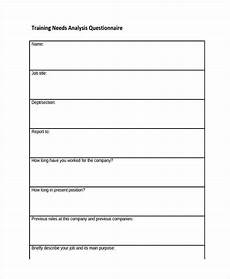 Training Needs Questionnaire Template Free 37 Questionnaire Templates Amp Examples In Pdf Examples