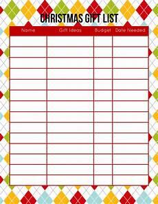 Christmas List Maker Printable 2015 Christmas Planner Free Printable Download