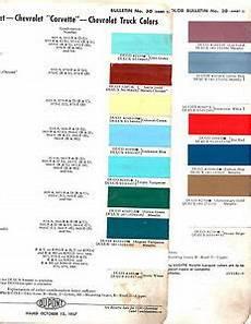 1958 Impala Color Chart 1958 Chevrolet Impala Bel Air Biscayne Nomad El Camino 58
