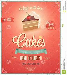Cake Poster Design Vintage Cakes Poster Stock Vector Illustration Of Cream