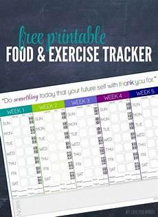 Printable Exercise Tracker Freebie Friday Food Amp Exercise Tracker