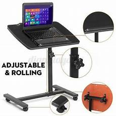 adjustable rolling laptop stand desk height angle