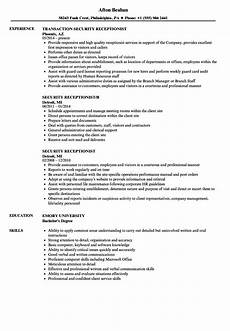 Security Job Resume 12 Receptionist Resume Sample Radaircars Com